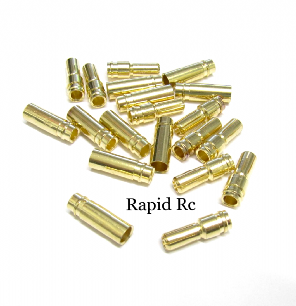 5.0mm Gold Connectors 10 pairs (20pc)
